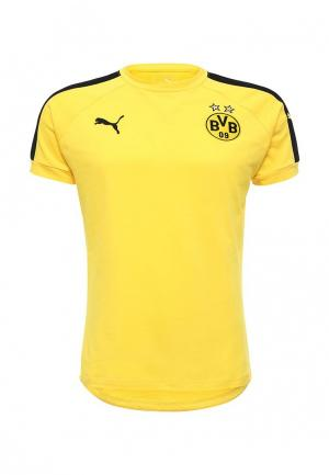 Футболка спортивная Puma. Цвет: желтый