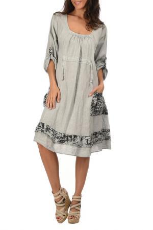 Платье Lin nature. Цвет: серый