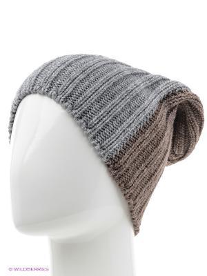 Шапка ELFRIO. Цвет: серый, коричневый
