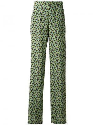 Расклешенные брюки Etro. Цвет: зелёный