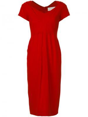 Платье-футляр Cady Goat. Цвет: красный