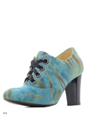Ботильоны La Gatta. Цвет: голубой, зеленый, коричневый
