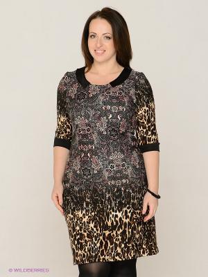 Платье MAFUERTA. Цвет: коричневый, розовый, кремовый, черный