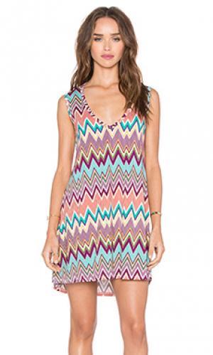 Платье без рукавов с v-образным вырезом diamond Michael Lauren. Цвет: фиолетовый