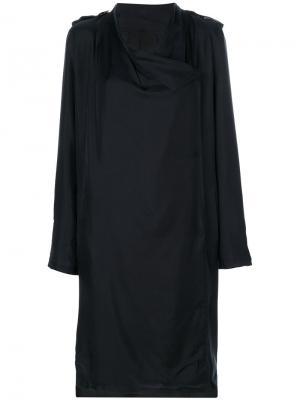 Buttoned coat Avelon. Цвет: чёрный