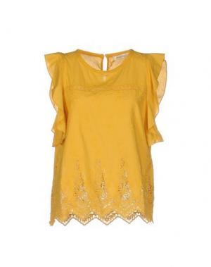 Блузка BELLA JONES. Цвет: охра