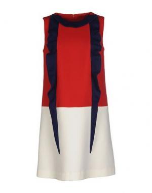 Короткое платье GIULIA ROSITANI. Цвет: красный
