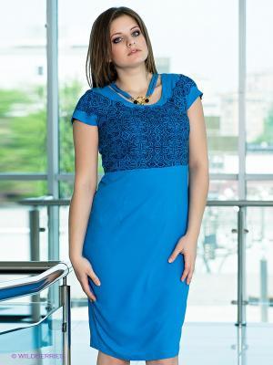 Платье VERDA. Цвет: бирюзовый