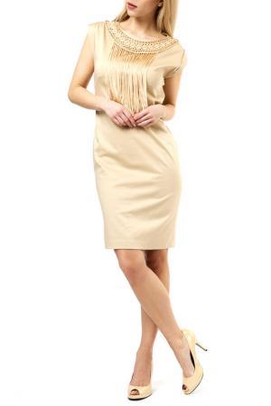 Платье Jones. Цвет: бежевый