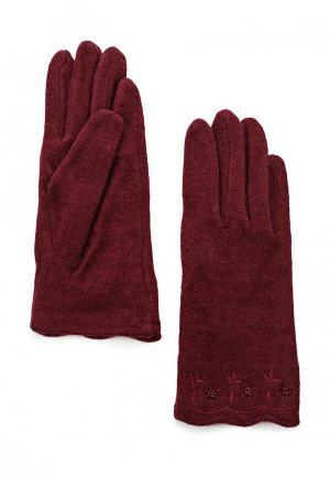 Перчатки Venera. Цвет: бордовый