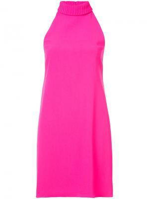 Платье с вырезом-халтер Brandon Maxwell. Цвет: розовый и фиолетовый