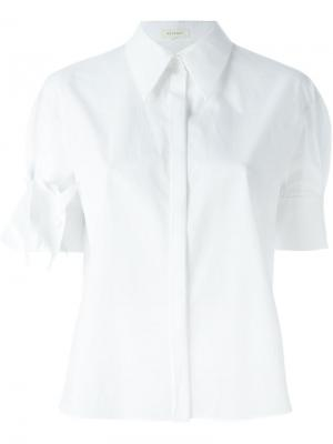 Рубашка с заостренным воротником Delpozo. Цвет: белый