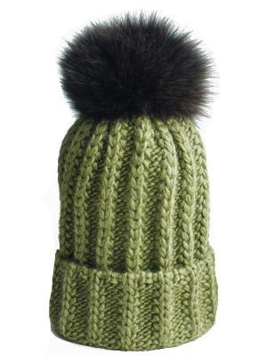 Шапка IVY Wooly's. Цвет: темно-зеленый