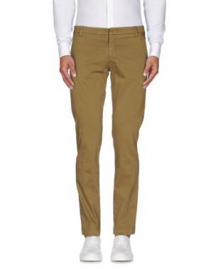 Повседневные брюки MASSIMO BRUNELLI. Цвет: зеленый-милитари