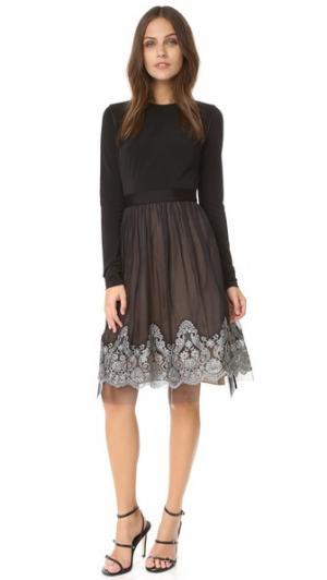 Платье с длинными рукавами Grady Catherine Deane. Цвет: черный/серебристый