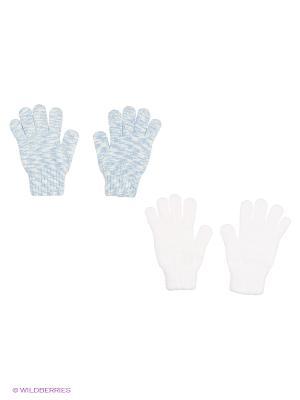 Перчатки - 2 пары FOMAS. Цвет: белый, голубой
