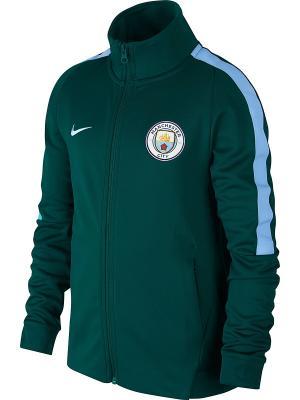 Куртка MCFC Y NSW JKT FRAN AUT CUP Nike. Цвет: зеленый