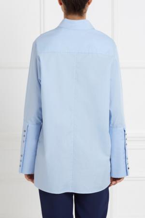 Хлопковая рубашка Rome MoS. Цвет: голубой