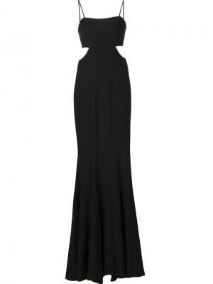 Длинное платье Alessandra Zac Posen. Цвет: чёрный