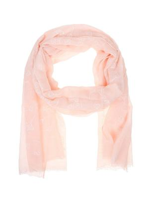 Палантин Migura. Цвет: розовый, белый