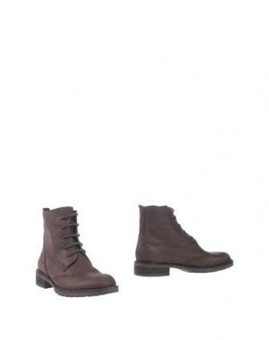 Полусапоги и высокие ботинки GENEVE. Цвет: темно-коричневый