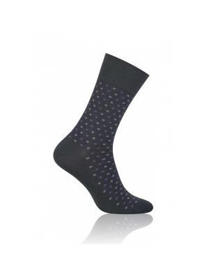 Носки мужские More, 39-42, черный / ромб Steven. Цвет: темно-серый