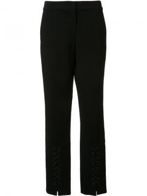 Узкие брюки со шнуровкой Yigal Azrouel. Цвет: чёрный