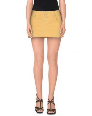 Джинсовая юбка CYCLE. Цвет: светло-желтый