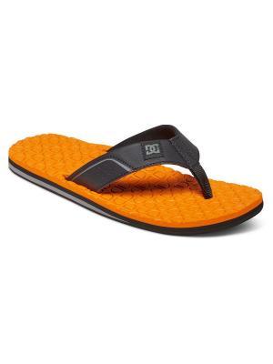 Шлепанцы DC Shoes. Цвет: оранжевый