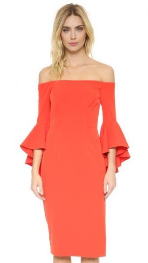 Платье с разрезом Cady Selena Milly. Цвет: томатный