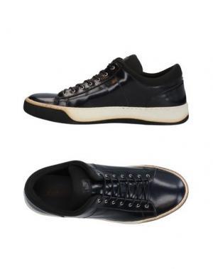 Низкие кеды и кроссовки LUCIANO PADOVAN. Цвет: темно-синий