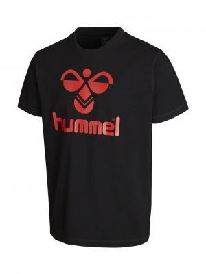 Футболка CLASSIC BEE COTTON HUMMEL. Цвет: красный, черный