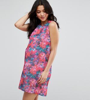 ASOS Maternity Цельнокройное платье для беременных с принтом. Цвет: мульти