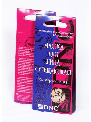 Маска для лица очищающая, набор из 2шт, (2х3х15 мл) DNC. Цвет: молочный, светло-бежевый