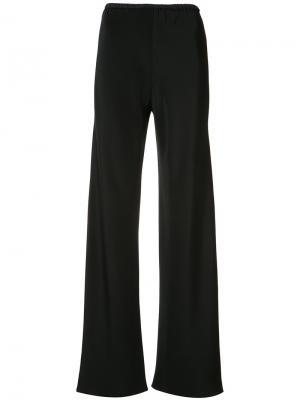 Расклешенные брюки с высокой талией Peter Cohen. Цвет: чёрный