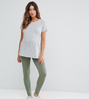ASOS Maternity Леггинсы для беременных TALL. Цвет: зеленый