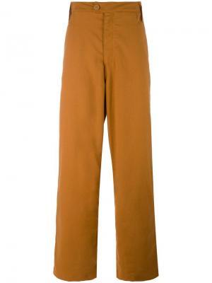 Брюки с шестью карманами Telfar. Цвет: коричневый