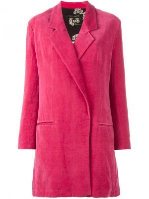 Однобортное пальто Ter Et Bantine. Цвет: розовый и фиолетовый
