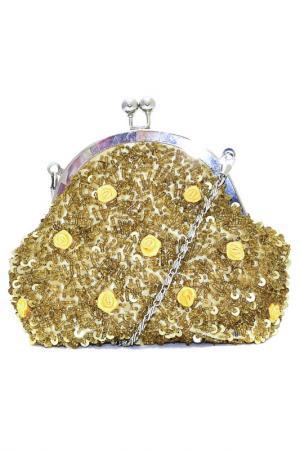 Сумка-клатч Fiorangelo. Цвет: золотисто-желтый