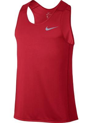 Майка M NK DRY MILER TANK Nike. Цвет: красный