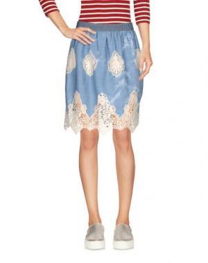Джинсовая юбка KORALLINE. Цвет: синий