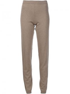 Кашемировые спортивные брюки Callens. Цвет: коричневый