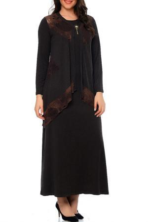 Платье Milanesse. Цвет: коричневый