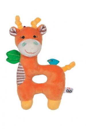 Оранжевая погремушка в виде жирафа Zoocchini. Цвет: multicolor