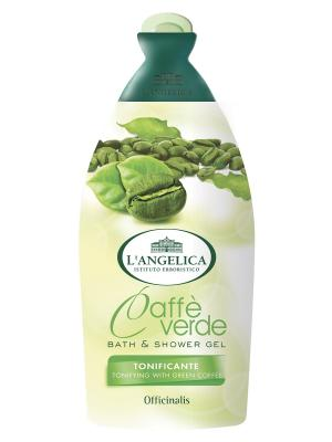 Гель для душа и ванны с ароматом зеленого кофе 500 мл L'Angelica. Цвет: белый