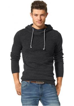 Пуловер JOHN DEVIN. Цвет: кобальтовый/меланжевый