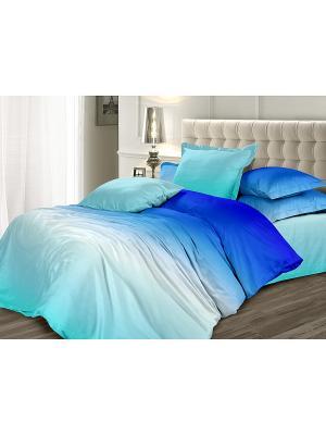 Постельное белье Унисон. Цвет: голубой, синий