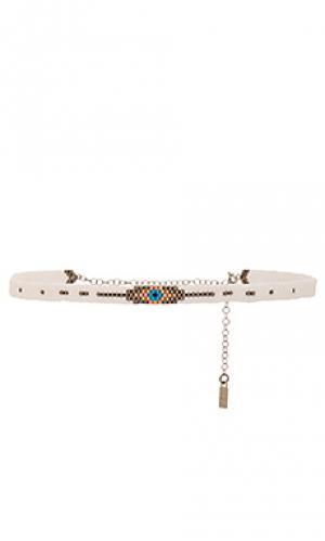 Чокер koda Natalie B Jewelry. Цвет: белый