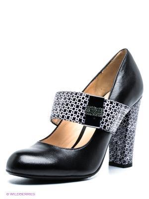 Туфли Moda Donna. Цвет: черный, белый