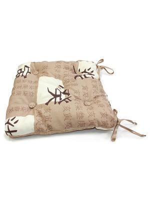 Подушка на стул Okinawa Kauffort. Цвет: коричневый